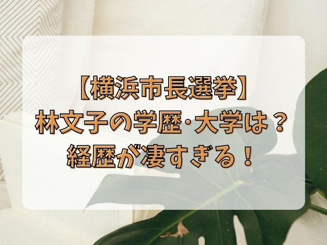 林文子の経歴と学歴・大学は?高校卒業後ダイエー日産のトップに!